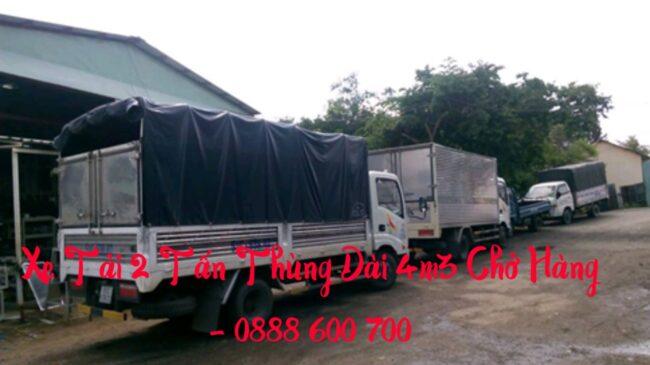 Xe 2 tấn chở hàng thùng dài 4m3