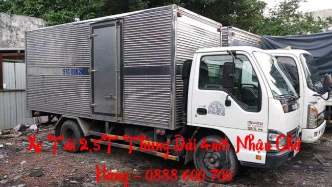Cho thuê xe tải chở hàng 2,5t thùng dài 4m3