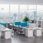Gam màu sáng sẽ giúp văn phòng trở nên thông thoáng, rộng rãi hơn