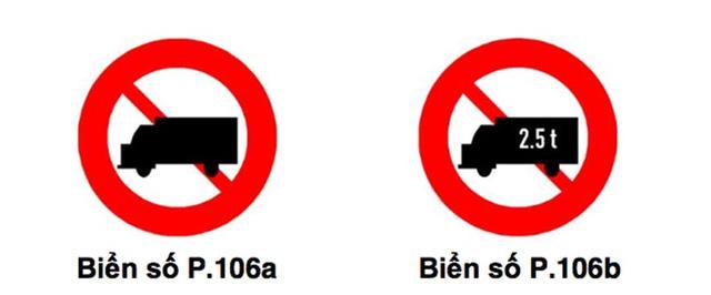 Biển báo cấm xe tải từ 950kg và xe tải trên 2,5t lưu thông tại hcm