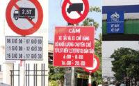 Bảng cấm giờ xe tải chở hàng