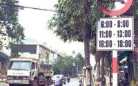Bảng cấm xe tải chở hàng lưu thông vào tp mỹ tho tiền giang